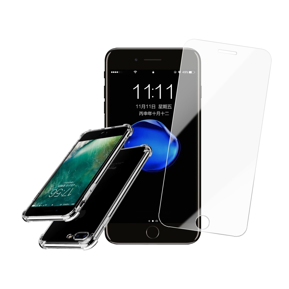 [買保護貼送手機殼] iPhone 7 8 Plus 非滿版 高清透明 手機 保護貼 (iPhone7Plus保護貼 iPhone8Plus保護貼 )