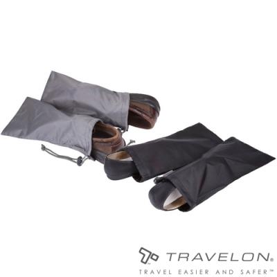 【Travelon】PACKING單支束口鞋袋(2對)TL-43065黑/灰/旅遊收納/乾淨防汙/輕量好攜帶