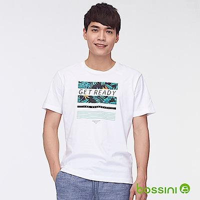 bossini男裝-印花短袖T恤28白