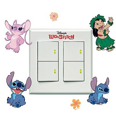 itaste小品味-迪士尼星際寶貝系列開關壁貼-安琪來了!8cm*12cm