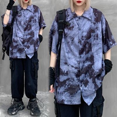【韓國K.W.】(預購)柔美簡約花情外套襯衫-1色