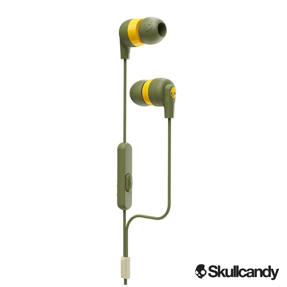 Skullcandy 骷髏糖 INKD+ 入耳式耳機-草綠+黃色(公司貨)