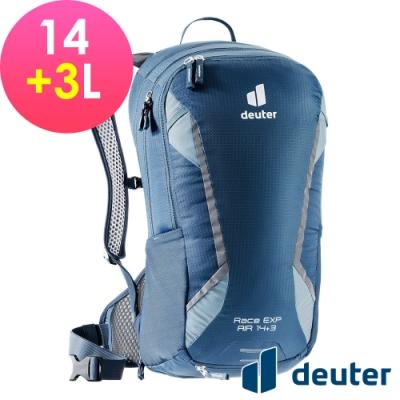 【deuter 德國】RACE EXP Air 14+3L自行車包3204421深藍/健行包/休閒旅遊包/輕量單車包