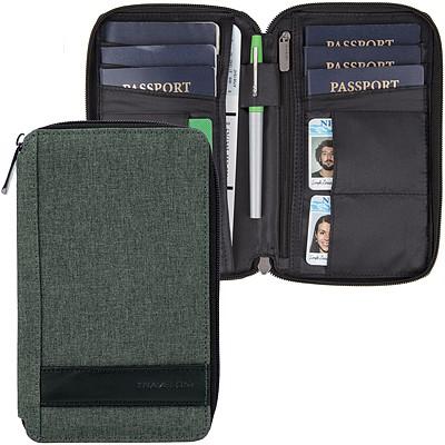 《TRAVELON》拼接旅遊護照包(蒼綠)