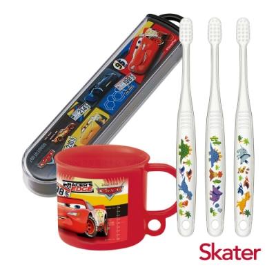 Skater幼童牙刷套組(3-5歲)-漱口杯+牙刷+牙刷盒-閃電麥昆