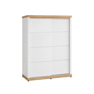 柏蒂家居-貝莉4.6尺推門/拉門衣櫃(三吊桿+單抽屜)-139x63x200cm