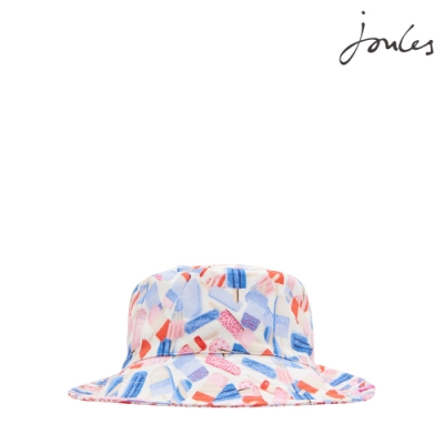 英國【Joules】MIRABELLE可愛冰棒蝴蝶結遮陽帽