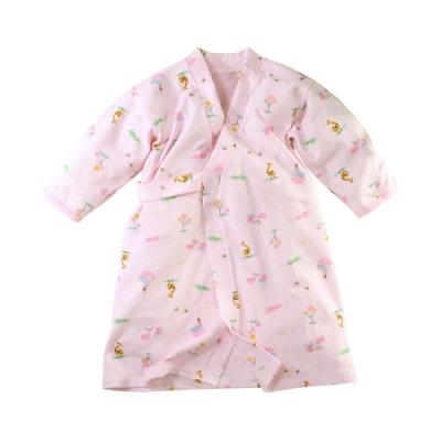 嬰兒長袍 台灣製秋冬厚款純棉護手和服長睡袍 b0324 魔法Baby