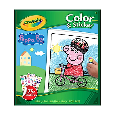 美國Crayola 繪兒樂 佩佩豬貼紙著色本(3Y+)