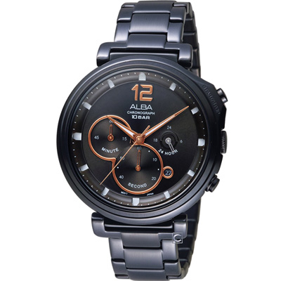 ALBA Tokyo Design 三眼計時腕錶(AT3E05X1)43mm