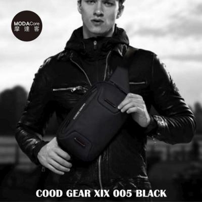 摩達客 韓國COOD GEAR-XIX005BLK 時尚都會休閒防潑水輕便型男腰包(黑色)