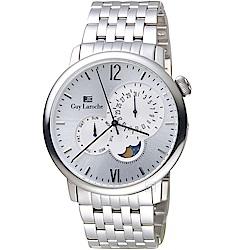 姬龍雪Guy Laroche Timepieces月相時尚錶(GW2003-08)
