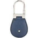 Mont Blanc 萬寶龍 Sartorial 防刮牛皮鎖釦/鑰匙圈(藍色)
