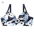 aimerfeel 花牆印花軟式鋼圈超盛內衣-藍色-173614-BU