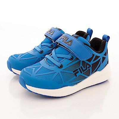 FILA頂級童鞋款 超輕量夜光款 FO26R300藍黑(中大童段)