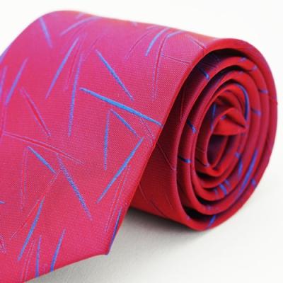 Alpaca 紅底藍紋領帶
