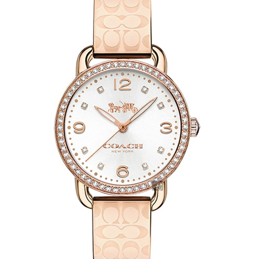 COACH 水晶手鐲logo錶帶女腕錶14502767