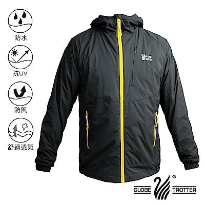 【遊遍天下】中性款防水防風抗UV連帽外套 GJ13001黑色