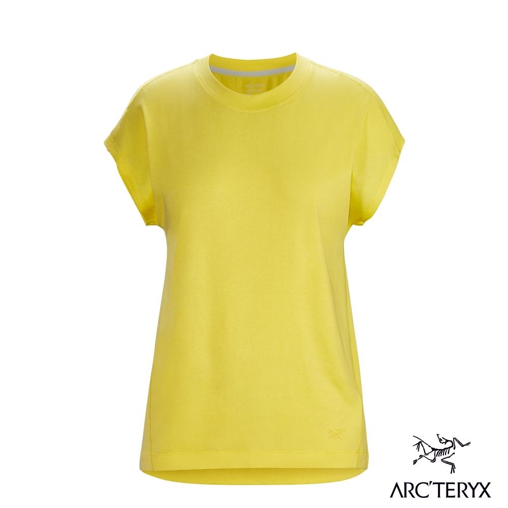 網路獨家●Arcteryx 始祖鳥 女 24系列 Ardena 有機棉 短袖T恤 真力黃