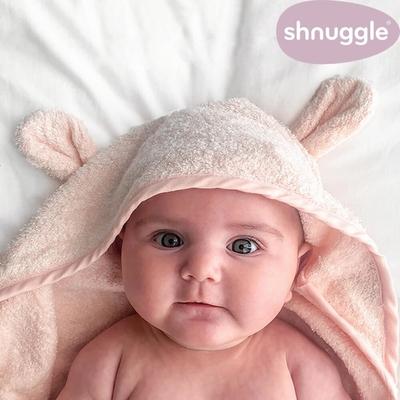 【英國Shnuggle】連帽圍裙式浴巾(多款可選 連帽保暖 穿戴便利)