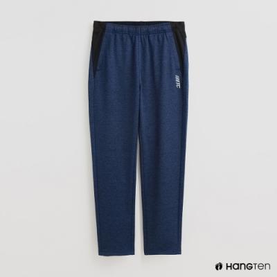 Hang Ten - 男裝 - 純色腰部鬆緊休閒運動長褲 - 藍