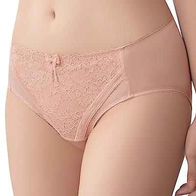 思薇爾 沁涼Bra系列M-XXL蕾絲中腰三角內褲(肉桂膚)