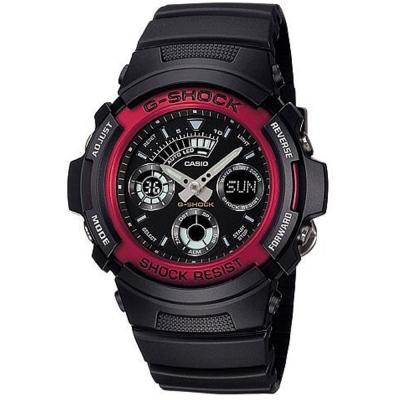 G-SHOCK 極速先鋒運動雙顯錶(AW-591-4A)-炫紅框/44.6mm