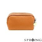 SPRING-太陽的三層多用鑰匙零錢包-經典橘棕
