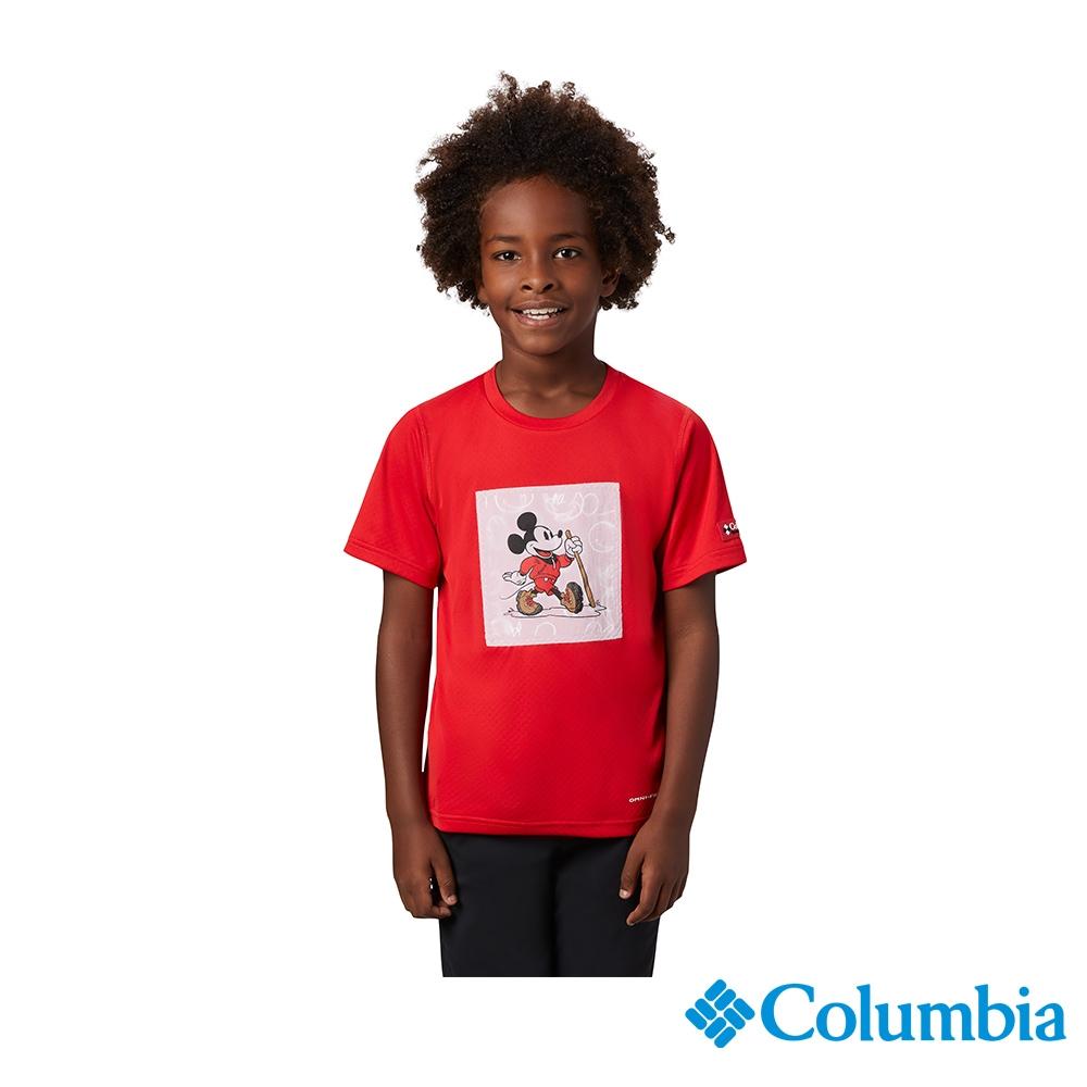 Columbia 哥倫比亞X Disney 童款-涼感防曬30快排短袖排汗衫-紅色 UAY00380RD