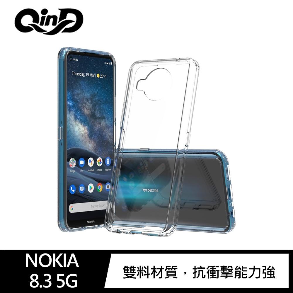 QinD NOKIA 8.3 5G 雙料保護套