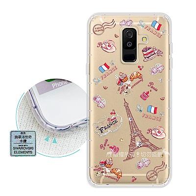 EVO Samsung Galaxy A6 Plus 異國風情 水鑽空壓手機殼(...