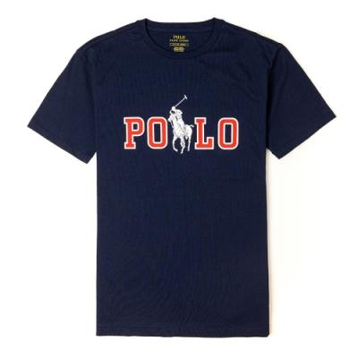 Polo Ralph Lauren 年度熱銷印刷文字大馬系列短袖T恤-深藍色
