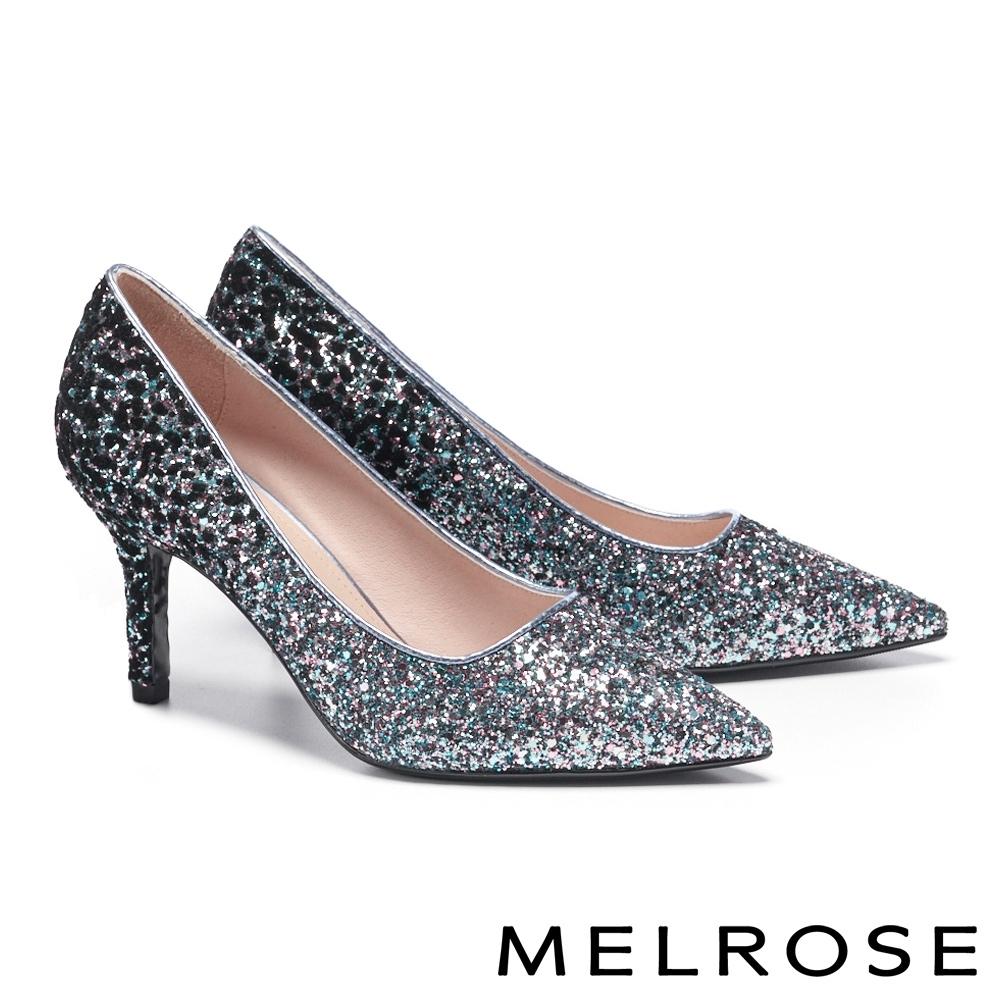 高跟鞋 MELROSE 華麗璀璨絢彩金蔥尖頭高跟鞋-幻彩
