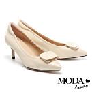 高跟鞋 MODA Luxury 知性典雅方釦全真皮尖頭高跟鞋-米
