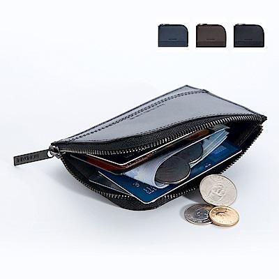 MONDAINE 瑞士國鐵L型拉鍊零錢包-黑