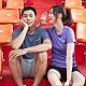 GIORDANO 男裝運動系列吸濕排汗素色短袖T恤 -12 花紗中藍 product thumbnail 1