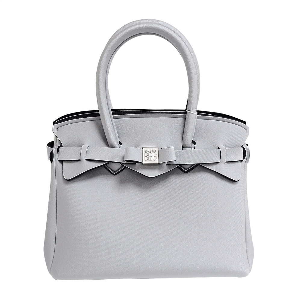 SAVE MY BAG 義大利品牌 PETITE金屬感系列 銀灰色超輕量手提托特包 @ Y!購物
