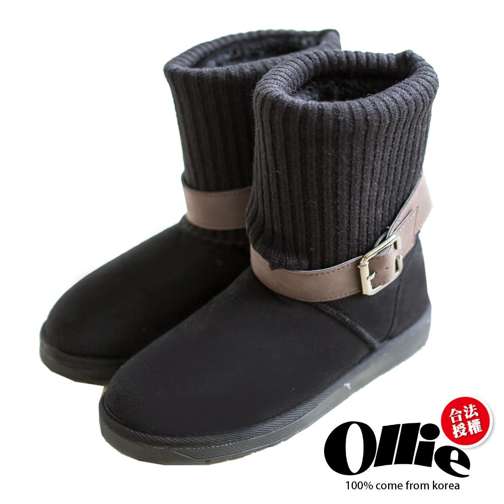 Aviator韓國空運-Ollie正韓製多穿法顯瘦內鋪毛厚底雪靴-黑