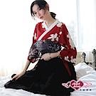 角色扮演 春意輕拂 日系和服裙表演派對服(黑紅F) AngelHoney天使霓裳