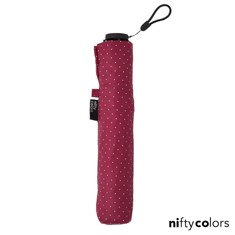 nifty colors 超輕量97克抗UV晴雨傘(桃紅點點)