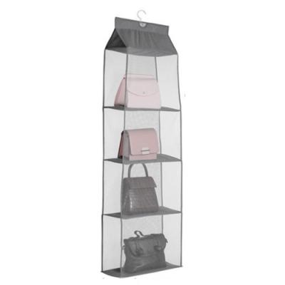 壁掛式 防塵 皮包 包包 背包 儲物袋 衣櫃 多功能 立體 懸掛式 透氣網格 多隔間 收納袋