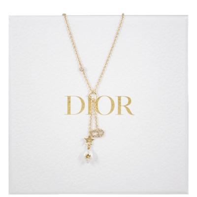 DIOR SHINY-D 淡水珍珠水晶項鍊