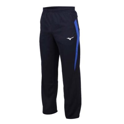 MIZUNO 男 針織運動長褲 丈青藍