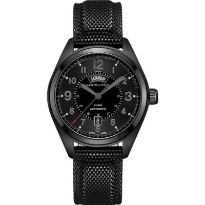 Hamilton 漢米爾頓 卡其野戰系列日曆機械錶-黑/42mm