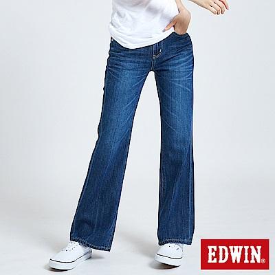 EDWIN 503基本五袋靴型褲-女-酵洗藍