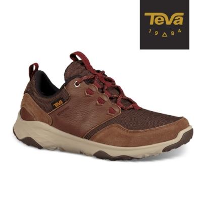 【TEVA】原廠貨 男 Arrowood Venture WP 低筒防水牛皮機能休閒鞋/登山鞋(牛皮棕-TV1106131BIS)