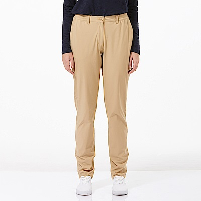【HAKERS 哈克士】女 抗UV快乾彈性修身長褲-卡其