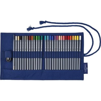Faber-Castell 27色水性鉛筆 創意工坊+帆布筆袋114652