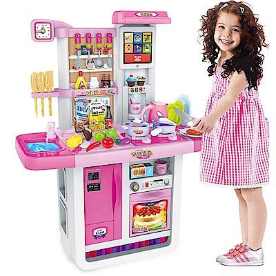 【兒童玩具】超豪華聲光廚具組 A23