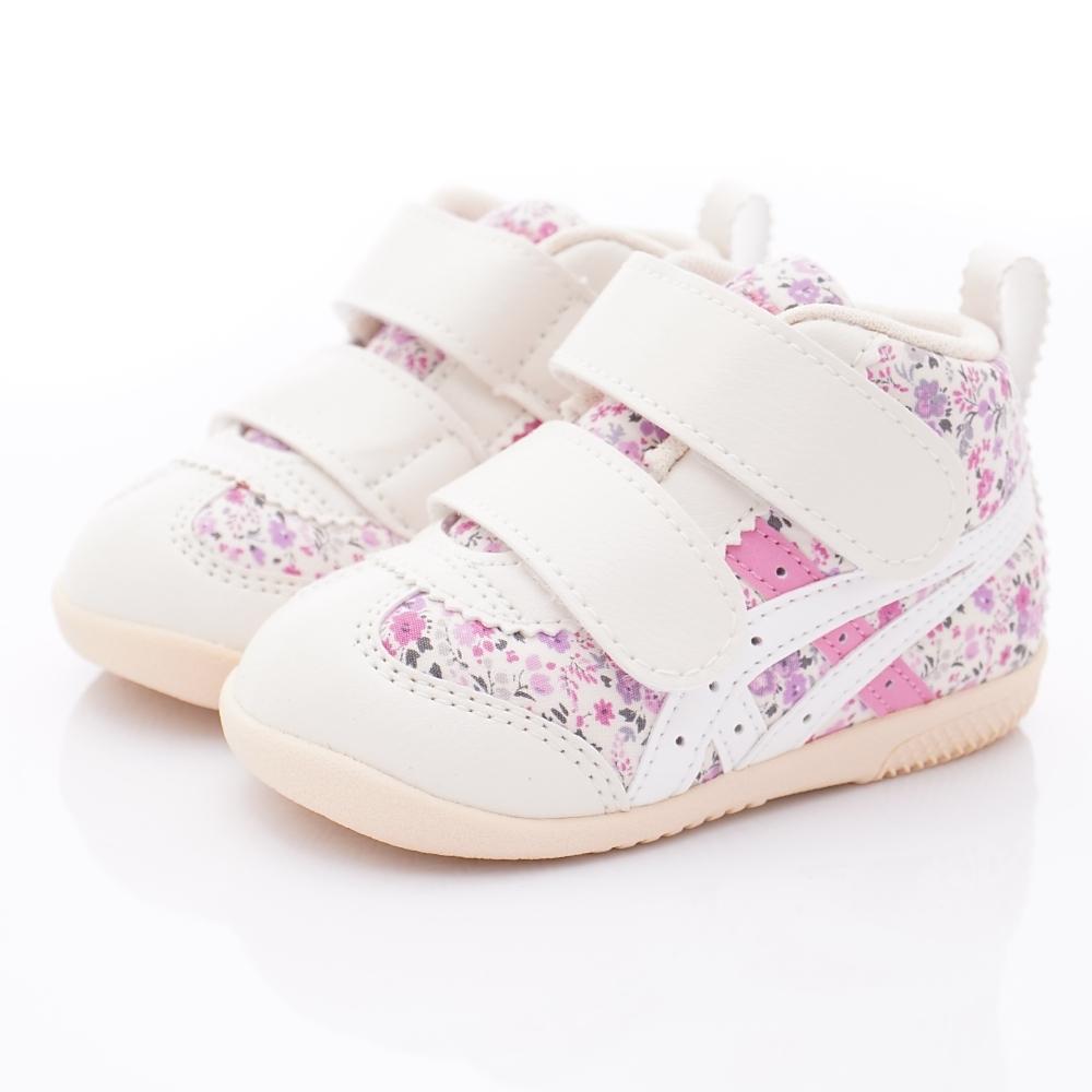 亞瑟士SUKU2機能鞋 護踝學步鞋 4A015-700白粉(寶寶段)